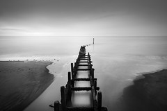 Overstrand 22/05/2016 (Matthew Dartford) Tags: ocean uk longexposure sea england blackandwhite bw beach monochrome landscape mono coast sand norfolk coastal eastanglia overstrand