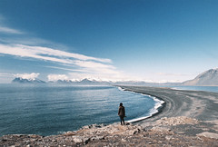 (Bazzerio) Tags: vast iceland sea mountain forrest travel woman photographersontumblr bazzerio 35mm film analog analogue canon vista landscape roadtrip