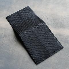 Matt Black Python Billfold Wallet (Vertstone) Tags: england 6 fashion handmade wallet alligator lizard ostrich luxury iphone cardholder vertstone