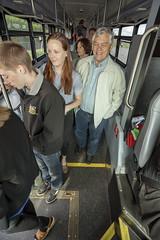 Deboarding the bus (OregonDOT) Tags: i5 legislature interstate5 woodburn legislators oregondot willamettevalleyi5corridortour