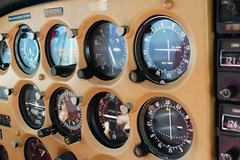 """Maneuvering Speed 105 KIAS"" (alexandre.malbecq) Tags: cockpit instruments airspeed vvi compass heading cesnna aviation airplane air"