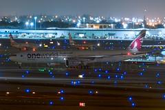 Qatar Airways Boeing 777-300ER A7-BAG (atcogl - ATC @ YYZ) Tags: usa night america airplane unitedstates florida miami aircraft aviation jet special mia boeing heavy flugzeug 777 qr airliner avion qatar widebody oneworld qatarairways qtr 777300 tripleseven qatari 777300er kmia twinjet b77w a7bag