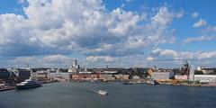 Helsinki (olmofin) Tags: helsinki harbor summer boat sea meri satama kauppatori cathedral tuomiokirkko