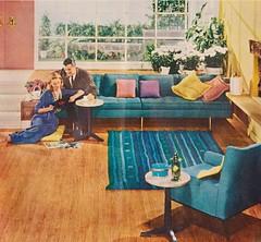National Oak Flooring Association 1958 (moogirl2) Tags: vintage retro 1958 50s midcenturymodern 50sstyle vintageads theamericanhomemagazine 50samerica nationaloakflooringassociation