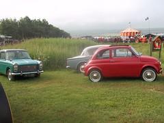 Classic Trio (occama) Tags: old uk cars austin cornwall fiat minx trio 1960s 500 hillman a40 farina