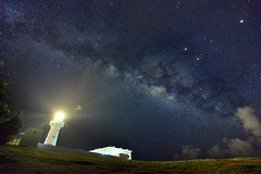 ~~ Milkyway above lighthouse (Shangfu Dai) Tags:  taiwan formosa   kenting   milkyway nikon d800e afs1635mmf4 landscape  galaxy    lighthouse flickrbronzetrophygroup