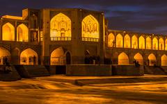 Khaju Bridge at night (ciwi.photography) Tags: longexposure bridge water lights iran romantic bluehour damm isfahan zayandehrud khajubridge khajoobridge polechādschu