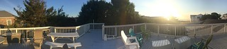 Panorama from the rooftop deck.