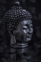 Enlightenment.... (kirby126) Tags: buddha head bokeh reflection yn568ex bare flash bounce canon6d canon 50mm f14 pjlimages photoshopcc