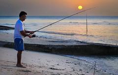 (TaMiMi Q8) Tags: fishing fish people creative sun sunny sunrise sinshine kuwait bnieder shore beach relax relaxation sand