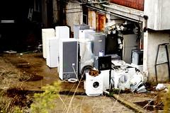 _DSC4234 (Parrasgo) Tags: urban streetart art blanco trash graffiti agua reflejo basura rubbish napoli fiore velas napoles escondido lavadoras pobreza secondigliano nascosto neveras camorra scampia gomorra