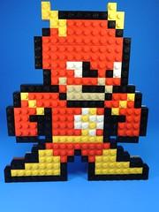 8 bit Flash (MrKjito) Tags: lego the flash bricks mosaic 8 bit creation art display super speed dc comics comic scarlet speedster