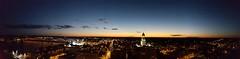 Heavenly shades of night are falling, it's twilight time (David Sebben) Tags: heavenly night twilight platters davenport iowa mississippi river panoramic centennial bridge