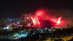 NDP Preview 1 Fireworks (Jake Wang) Tags: singapore national day 2016 preview ndp sportshub sports hub kallang stadium fireworks