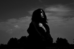 .once we (Cristina Siminiceanu) Tags: selfportrait portrait portraits timisoara romania black white bw nature sky summer wind windy trees once we photography conceptual emotions capture