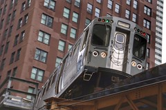 Chicago Subway Train (Nick Fewings 4.5 Million Views) Tags: nickfewings downtown greenline public transport overhead above silver loop subway america usa illinois chicago 2016