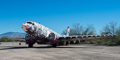 """""""Time Flies By"""" by How & Nosm, 2011 (mark6mauno) Tags: by museum airplane nikon acrylic time space air pima oil flies how nikkor douglas d4 2011 c117 nosm pimaairspacemuseum nikond4 2470mmf28g"""