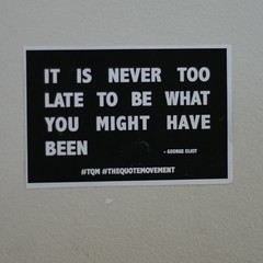 Its never too late ... (shaken not stirred2011) Tags: george eliot tqm thequotemovement