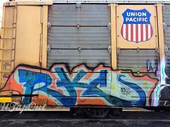 RK (UTap0ut) Tags: california ca art cali train graffiti paint rail socal cal graff autorack frieght utapout