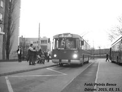 ZIU 9B 927 Budapest, Csáktornya park, 2015. 03. 15. (7) (petrsbence) Tags: hungary budapest retro bkk troley bkv ziu nosztalgia troli trolibusz ziu9 ziu9b