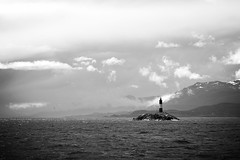 finding a place to belong (Lucrecia Carosi) Tags: morning sea bw byn maana water clouds faro tierradelfuego ushuaia canaldebeagle mar agua nubes 75300 beaglechannel leseclaireurs