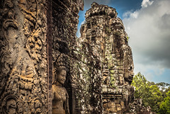 Cambodia : Siem Reap, Angkor Thom, Prasat Bayon #20 (foto_morgana) Tags: architecture temple asia cambodia buddhism siemreap hinduism unescoworldheritage historicalsite bayon lightroom angkorthom travelexperience