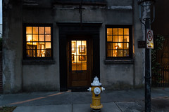 The glow inside (Irina1010) Tags: street old city light urban building yellow canon evening gallery glow artgallery charleston firehydrant weathered 2016 insideglow outstandingromanianphotographers