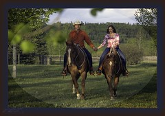 Happy Trails (zawaski) Tags: horses canada calgary beauty ambientlight dick noflash alberta bonnie rockymountains canmore canonefs18200mmf3556is zawaski2016