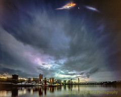 Portland Pinhole Skyline (Paul Swortz) Tags: film oregon portland slidefilm e6 willametteriver 2016 worldwidepinholephotographyday fujivelvia100 southwaterfront handmadecamera colortransparency swortz riverplacemarina realitysosubtle wwppd2016