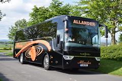 YJ16EOC  Allanders, Milngavie (highlandreiver) Tags: travel bus green scotland coach glasgow tx scottish gretna van hool allander eoc milgavie allanders yj16 yj16eoc