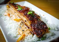 Thai Street Pork Belly - Cripsy Pork Belly, Sweet Panang Curry, Thai Basil & Lemongrass on Jasmine Rice - Cody's (sheryip) Tags: street food pork belly foodporn thai bridgeport morgantown codys