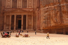 Petra, Jordan (pepperinmyteeth) Tags: city travel pink red vacation building tourism rose rock architecture lost greek jones carved workers ancient sandstone ruins roman petra treasury siq columns ruin middleeast indiana tourists arabic east jordan camel arab column arabian middle camels wadi musa indianajones bedouin levant lastcrusade nabatean wadimusa alkhazneh