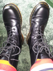 20160412_121051 (rugby#9) Tags: original black feet yellow socks hole boots 10 lace dr air 7 indoor icon wear size stitching comfort sole doc cushion soles dm docs eyelets drmartens bouncing airwair docmartens martens dms stripedsocks 1490 cushioned wair 10hole doctormarten multicolouredsocks yellowstitching