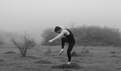 Landscape of Dance (PenelopeStrawberry) Tags: england landscape dance surrey contemporarydance maledancer farthingdowns