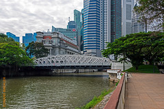 Singapore (Edi Bhler) Tags: bridge sky plant building tree nature clouds facade natur pflanze himmel wolken structure highrise waters brcke bauwerk baum gebude fassade hochhaus gewsser 28300mmf3556 nikond800