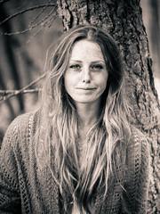Natural Beauty (i-r-paulus) Tags: portrait blackandwhite monochrome hippy portraiture freckles themed naturalbeauty boho photogenic naturallightportrait