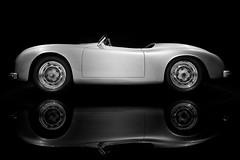 Porsche 356 (O l l i . B .) Tags: auto white black monochrome museum blackwhite stuttgart fineart porsche sw monochrom verkehr schwarz fahrzeug porsche356 automobil sportwagen weis badenwrtemberg rennwagen zuffenhausen fotokunst einfarbig schwarzweis canonef1740mm canoneos5dmkii americaroadster