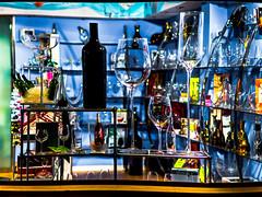 Big or Small? (Juaberna) Tags: nikon wine bottles f14 85mm cups showcase ae copas vino escaparate botellas d610 samyang