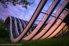Zentrum Paul Klee (www.chriskench.photography) Tags: travel sunset reflection architecture schweiz switzerland europe suisse fujifilm bern goldenhour ch 18135 xt1 kenchie wwwchriskenchphotography
