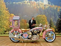 Humility (Akbar Simonse) Tags: people man holland color art netherlands bike museum maastricht candid kunst nederland streetphotography harleydavidson motorcycle motor schlossneuschwanstein humility workofart bonnefanten graysonperry straatfotografie dscn2014 akbarsimonse nederigheid