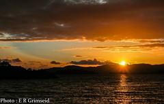 Sunset , Raunefjorden (2000stargazer) Tags: light sunset seascape reflection norway canon dark landscape heaven horizon fjord bergen raunefjorden