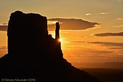 Monument Valley sunrise (simone_a13) Tags: arizona usa silhouette rock sunrise utah butte unitedstates geology monumentvalley rockformation