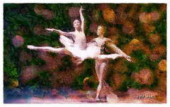 La Bayadere ~~ The Temple Dancer (Leo Bar) Tags: dance danza digitalart dancers painting pixinmotion colors creative ballet templedance leobar labayadere classical netartii awardtree