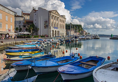 Piran Harbor (W. Tipton) Tags: piran pirano harbor inner marina fishing museum slovenia slovenija europe port gulfofpiran gulf adriatic sea seaside boats travel buoy summer cityscape water rokinon 16mm canon t3i