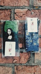 Instagram: Hirodrewsykes (HiroDrewSykes) Tags: brick art socks monalisa wearableart starrynight sockart tumblr hirodrewsykes