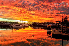 Best EVER Sunrise (Beth Wode Photography) Tags: morning clouds marina sunrise reflections boats dawn harbour beth cleveland yachts redlands sunriseclouds wode rabybay rabybaymarina bethwode