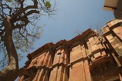 A temple, at Vrindavan, Mathura (ilovethirdplanet) Tags: trees india temple mathura ind uttarpradesh