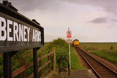 Train gone at Berney Arms (Chris Baines) Tags: old building arms great norfolk norwich yarmouth aga marshes berney rspb platelayers