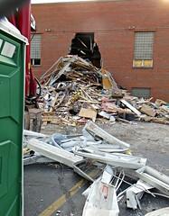 Eagles building demolition, Joliet, IL (stoneofzanzibar) Tags: joliet buildings demolition