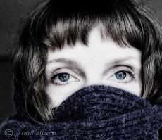 Moi as a Purple Ninja (ellie 6) Tags: woman scarf hair eyes bravo infinestyle artofimages bestportraitsaoi